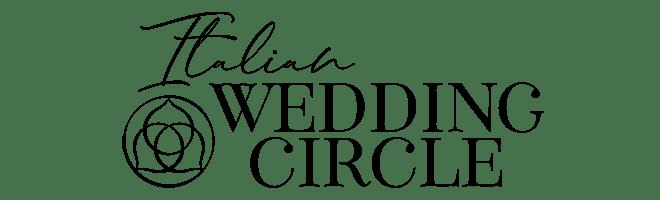 logo italian wedding circle